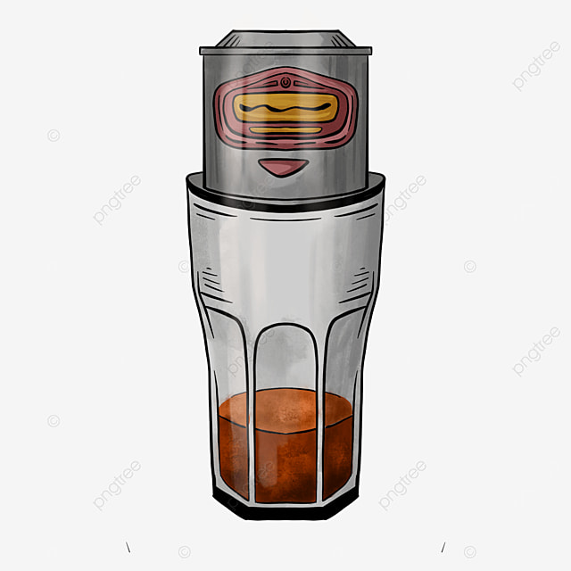 small can of delicious drink vietnamese filter coffee clipart
