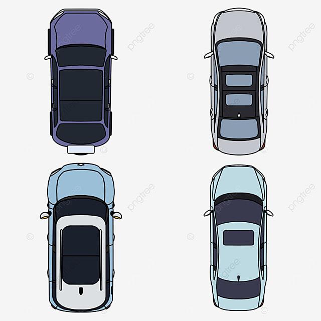 flat car top view