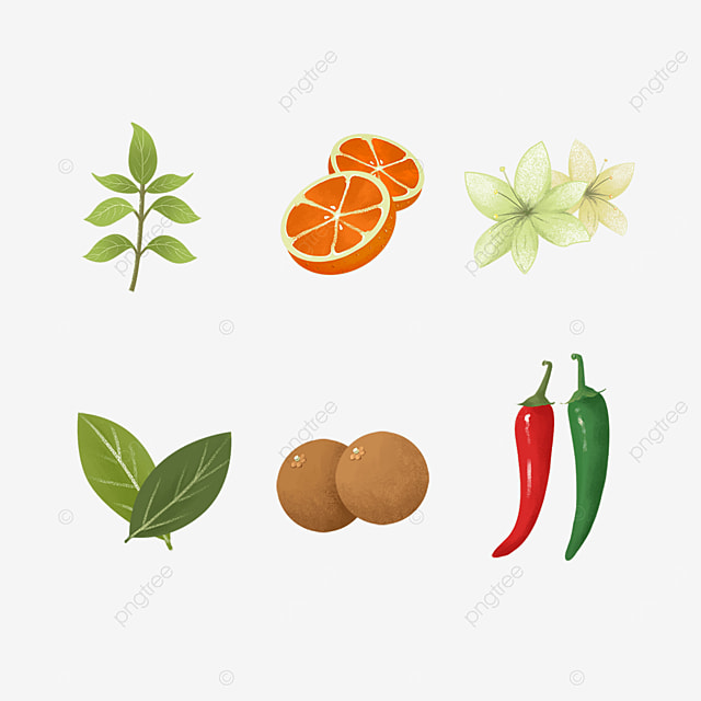 herbs and spices green red pepper