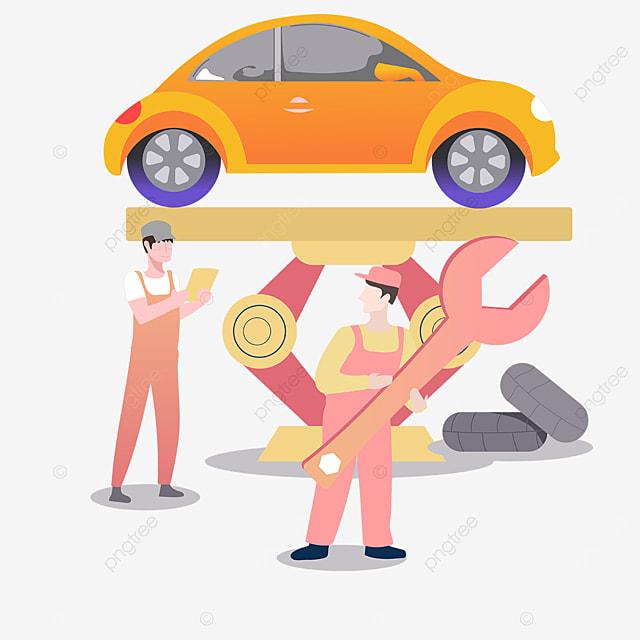 lift car beauty illustration