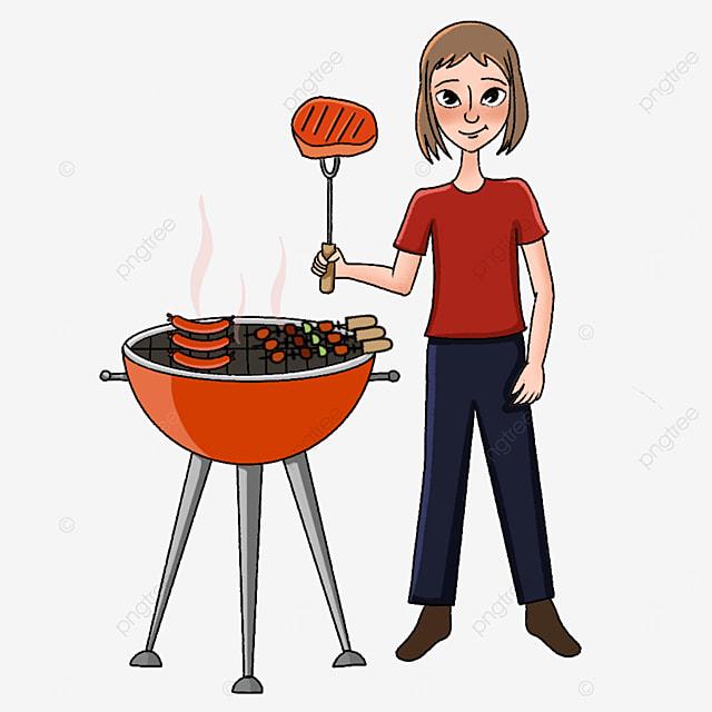 orange oven barbecue clip art
