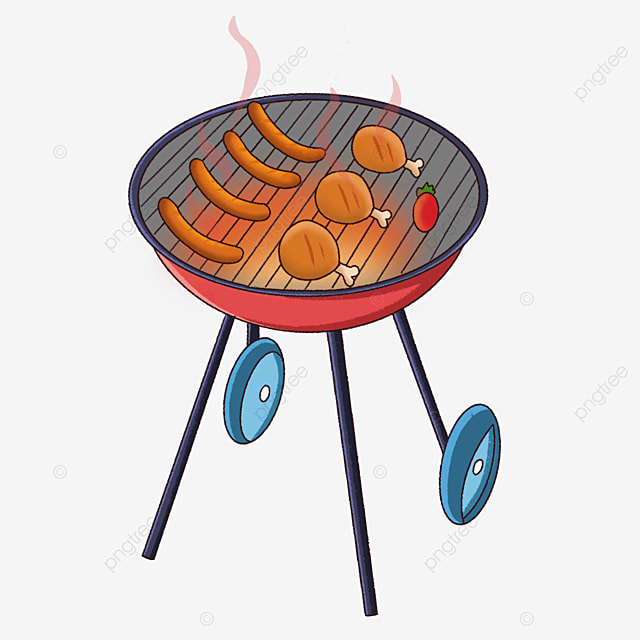 outdoor barbecue grill clipart