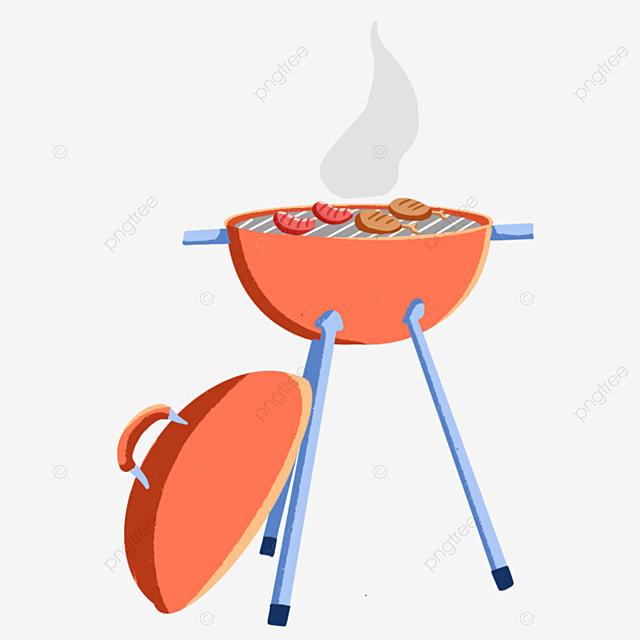 tangerine outdoor barbecue clip art