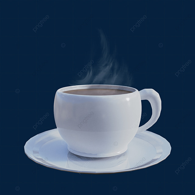 white steam coffee cup drink