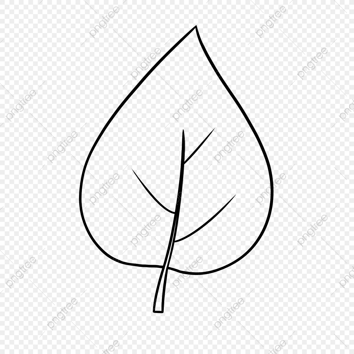 Cartoon Leaf Black And White Clipart Leaf Clipart Black And White Leaf Clipart Png Transparent Clipart Image And Psd File For Free Download