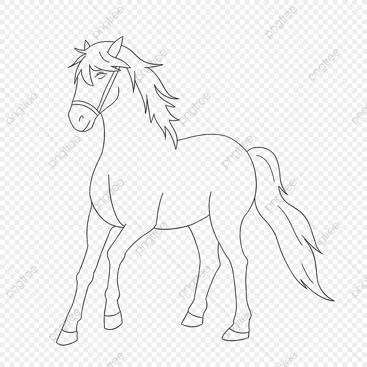 Horse Clipart Black And White Happy Horse Clipart Horse Cartoon Png Transparent Clipart Image And Psd File For Free Download