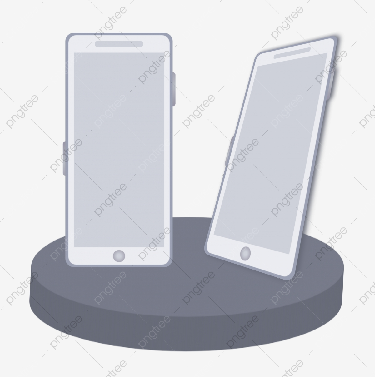 Mock Up Handphone At Tilt, Hp, Digital, Layar PNG and Vector with ...