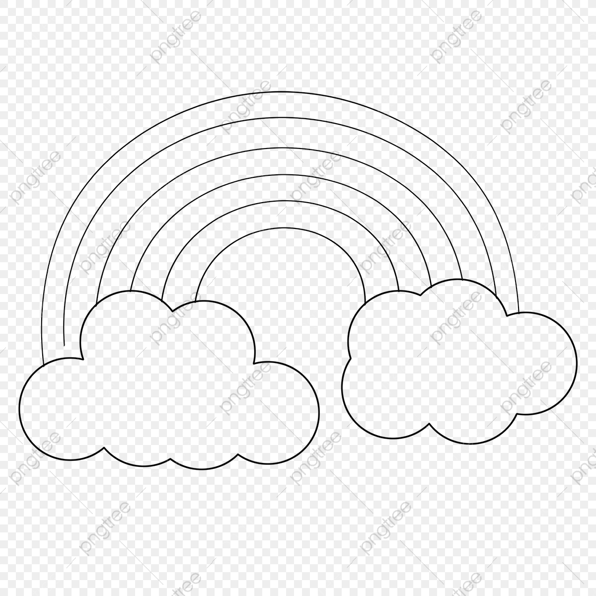 Rainbow Clip Art Black And White Free Illustration Rainbow Clipart Free Illustration Png Transparent Clipart Image And Psd File For Free Download