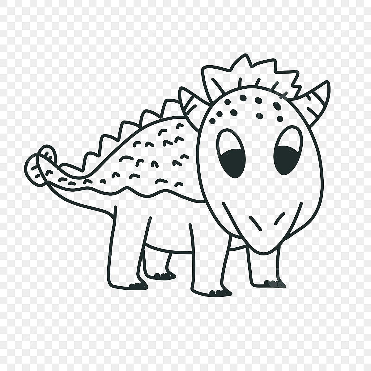 Gambar Triceratops Kartun Lucu Dinosaurus Clipart Hitam Dan Putih Triceratops Dinosaurus Seni Klip Png Transparan Clipart Dan File Psd Untuk Unduh Gratis