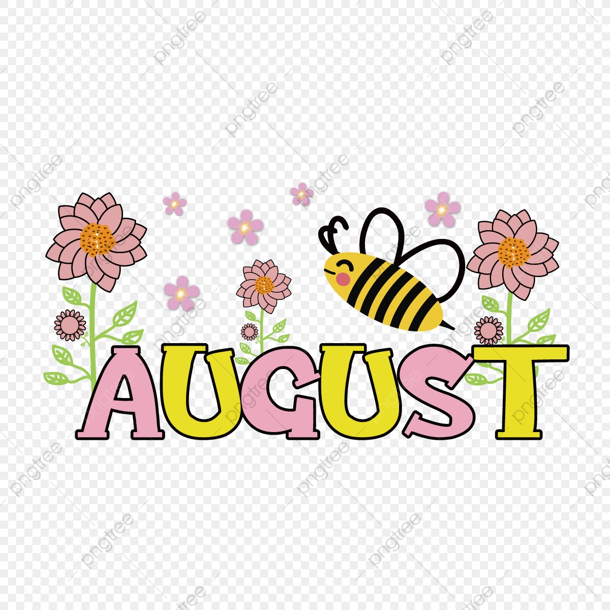 August Cartoon Clip Art Svg August Cartoon Clipart Png And Vector With Transparent Background For Free Download