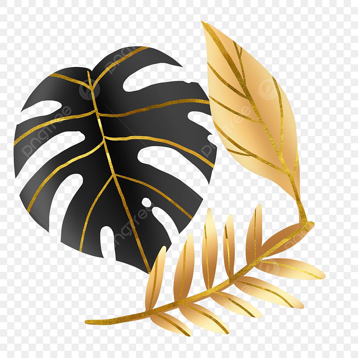 Gambar Daun Emas Hitam Tropis Tropis Emas Hitam Keemasan Png Transparan Clipart Dan File Psd Untuk Unduh Gratis
