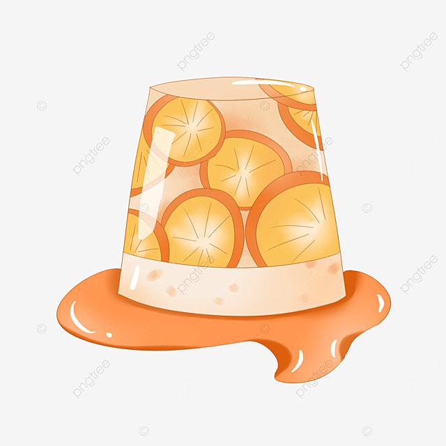 orange transparent orange jelly clipart