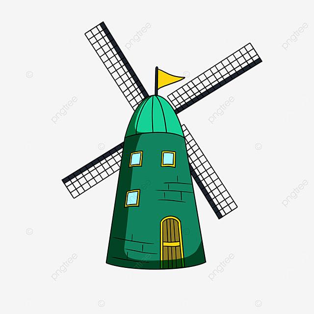 green windmill clip art