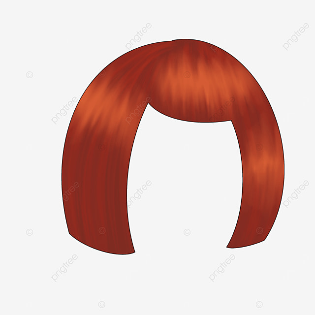 ladies short hair wig clip art