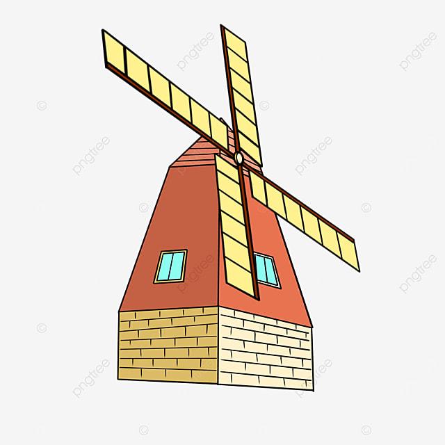 orange windmill clip art