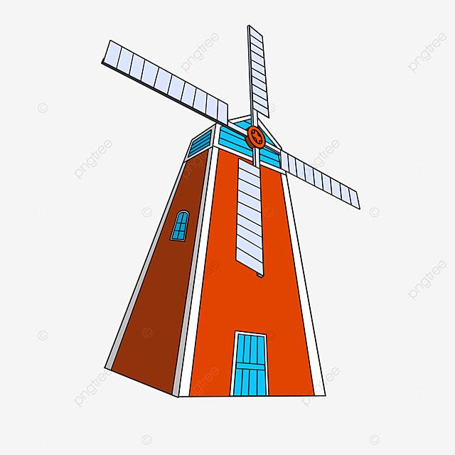 red windmill clip art