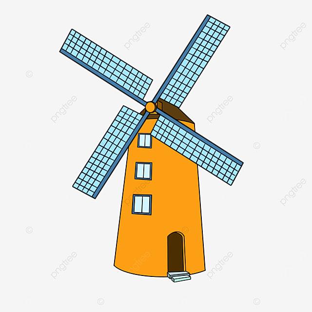 yellow mill windmill clip art