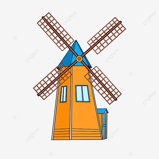 yellow windmill clip art