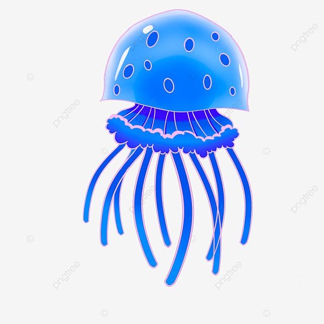 Deep Blue Jellyfish Clip Art Navy Blue Jellyfish Clipart Png Transparent Clipart Image And Psd File For Free Download