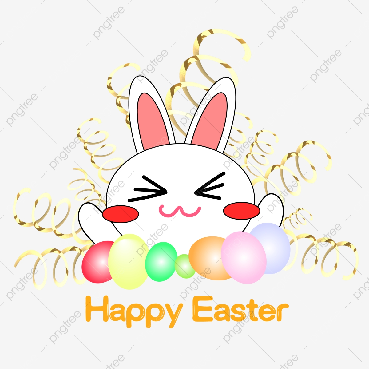 Happy Easter Bunny Clipart Happy Easter Easter Bunny Easterday Bunny Png And Vector With Transparent Background For Free Download