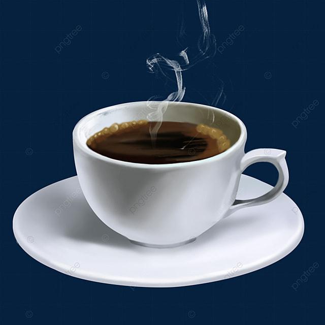 a glass of steam smoke coffee