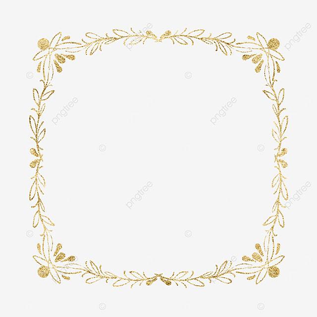 beauty view gold color line plant border