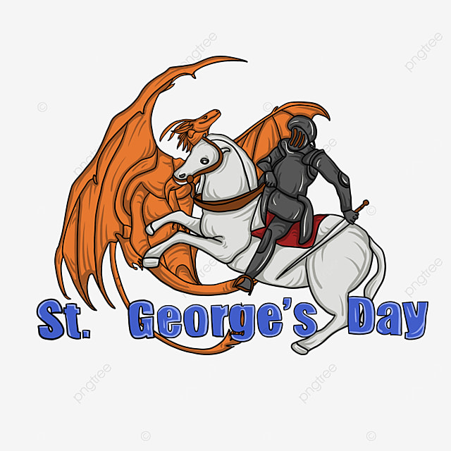 brave knights and dragon of st georges day