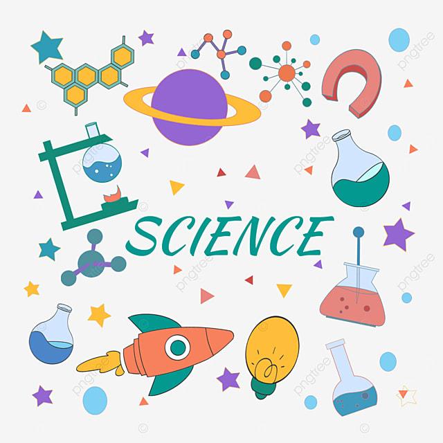 cartoon science education experimental equipment