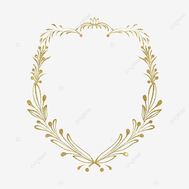 exquisite gold linen plant border