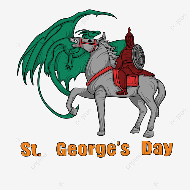 green st georges day knights and dragon