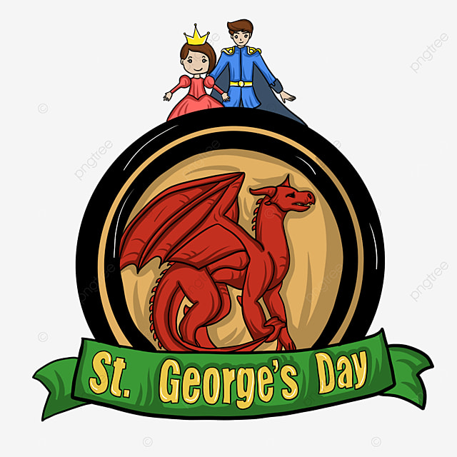red st georges day knights and dragon