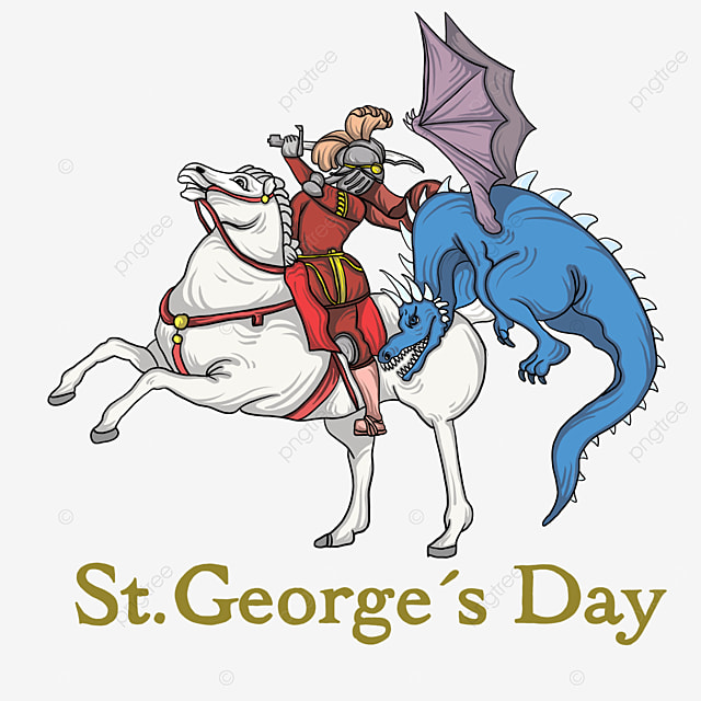 st georges day knight and dragon