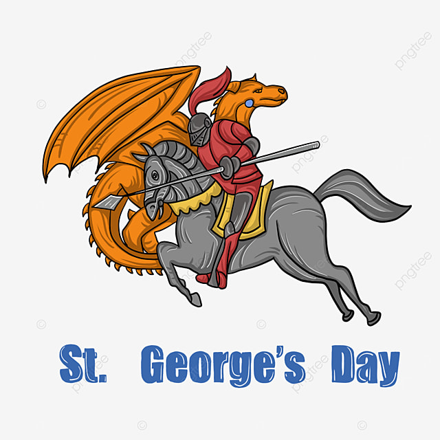 st georges day knight riding and dragon fight