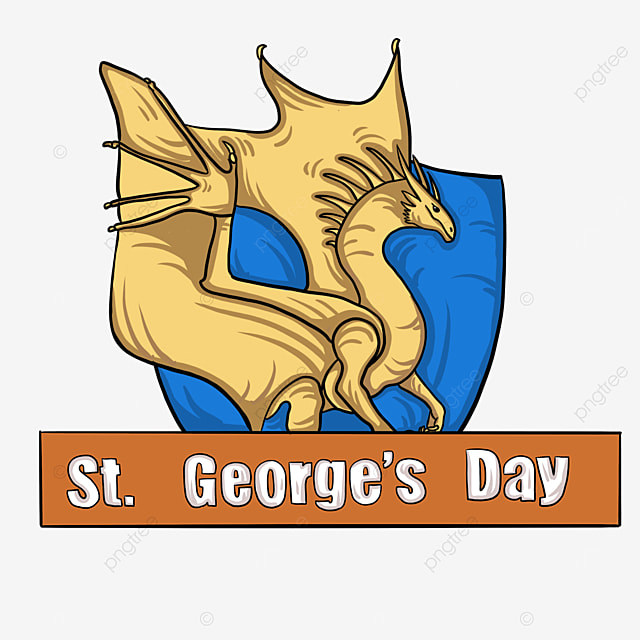 yellow st georges fierce dragon label