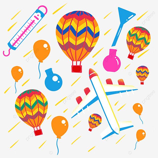 hot air balloon aircraft science illustration
