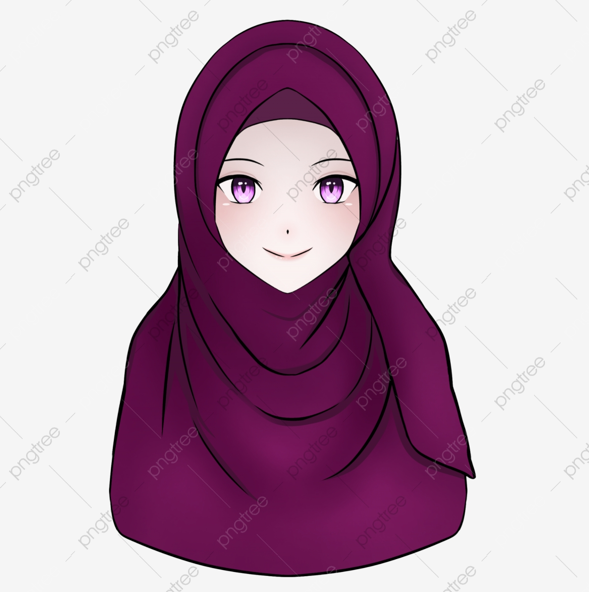 Cartoon Muslimah Png Images Vector And Psd Files Free Download On Pngtree