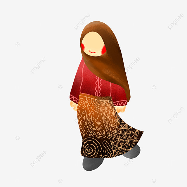 Gambar Kartun Muslim Mengenakan Pakaian Jawa Timur Tradisional Muslimah Jawa Timur Baju Adat Pakaian Muslim Png Transparan Clipart Dan File Psd Untuk Unduh Gratis