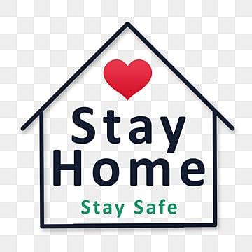 оставайся дома оставайся в безопасности, оставаться в безопасности дома, Карантин, вирус PNG и PSD