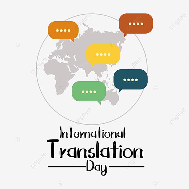 international translation day simple flat earth