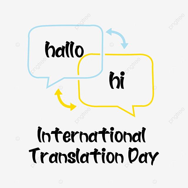 international translation day simple line