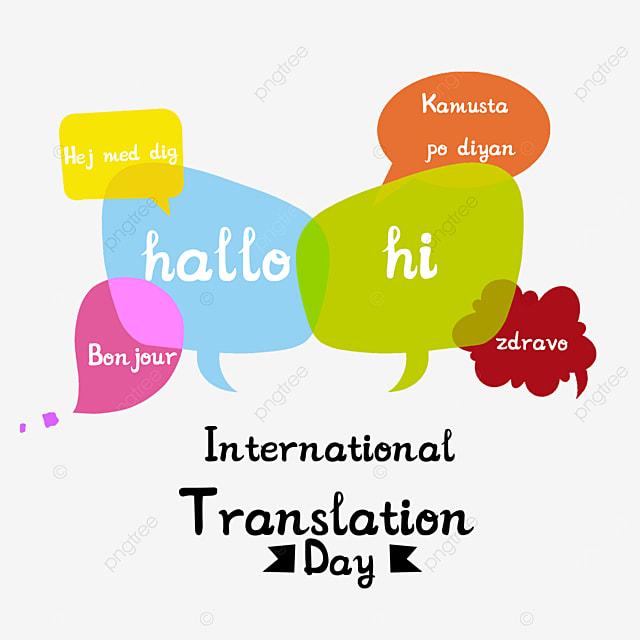 simple international translation day bubble