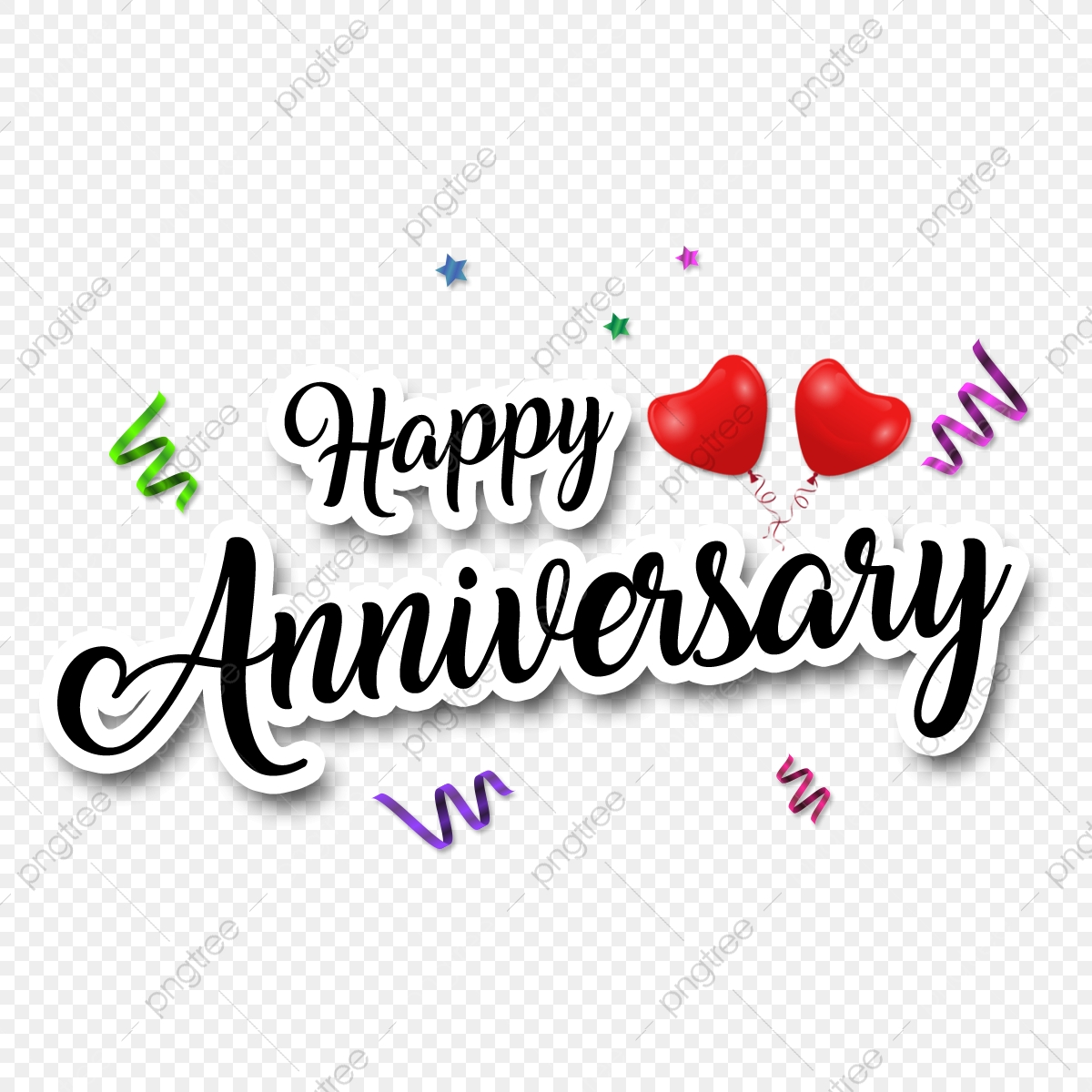 Happy Anniversary Transparent Background Sticker Anniversary Wedding Anniversary Happy Anniversary Png Transparent Clipart Image And Psd File For Free Download