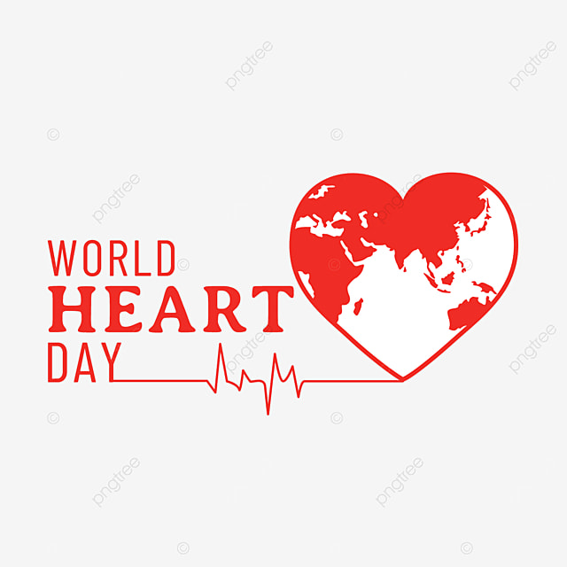 red healthy world heart day