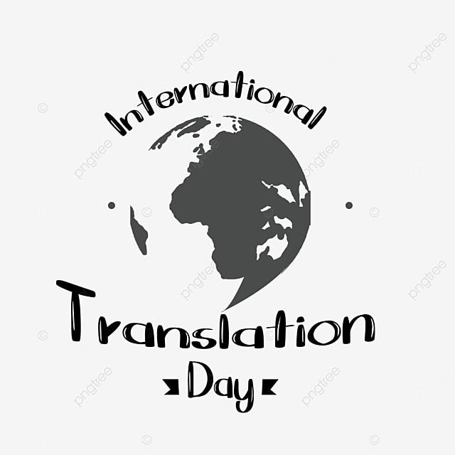 international translation day black and white line draft