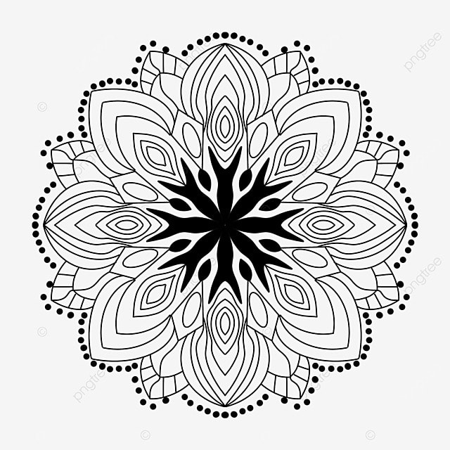 Black Sketch Indian Pattern Black And White Kaleidoscope Religion Abstract Decoration Black And White Pattern Png Transparent Clipart Image And Psd File For Free Download