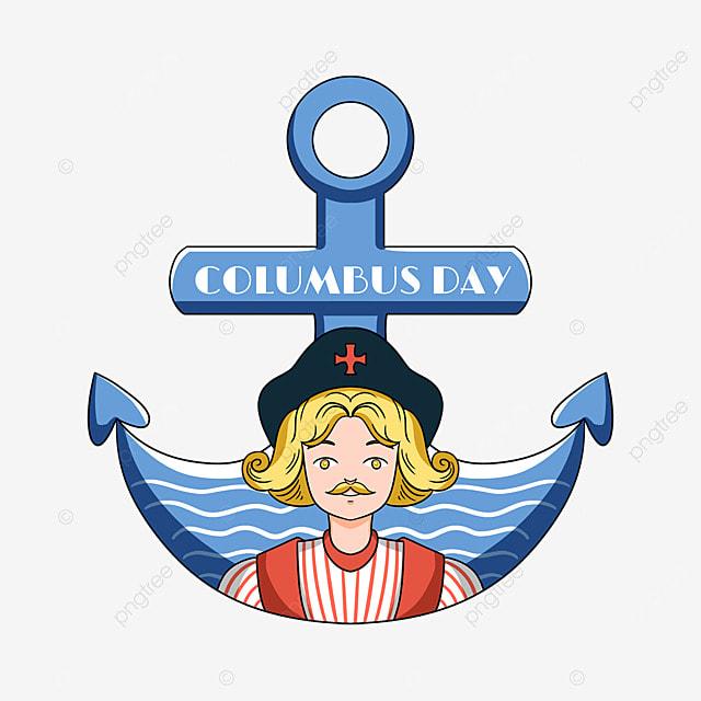 cartoon columbus day anchor