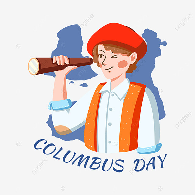 cartoon columbus day map