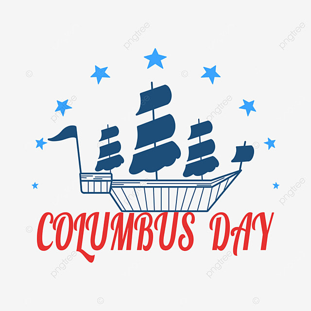 columbus day blue steamship