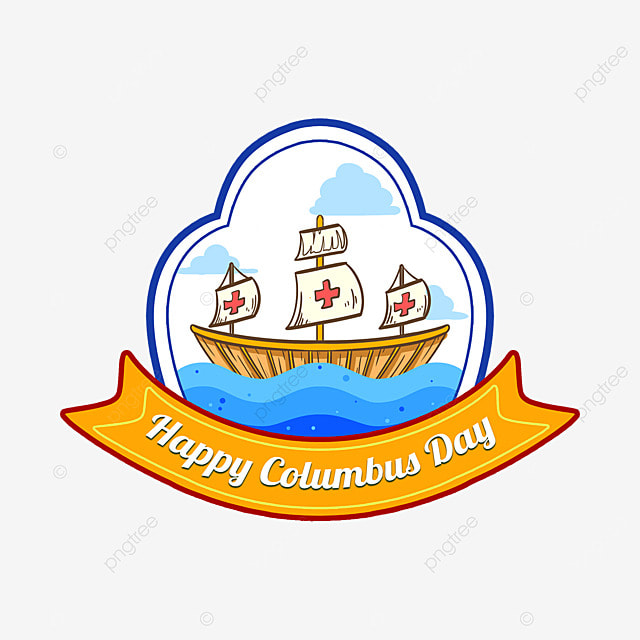 columbus day cute icon