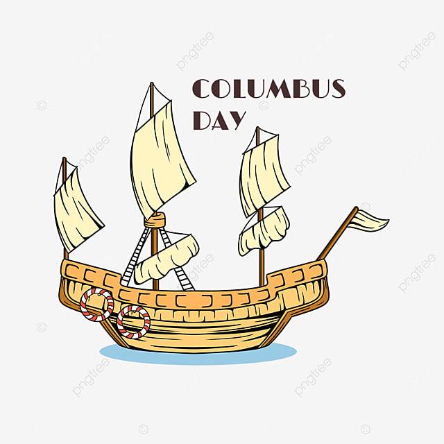 columbus day retro steamship